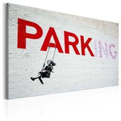 Artgeist Wandbild - Parking Girl Swing by Banksy
