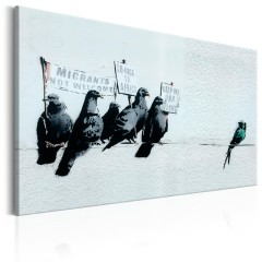 Artgeist Wandbild - Protesting Birds by Banksy