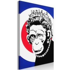 Artgeist Wandbild - Queen of Monkeys (1 Part) Vertical