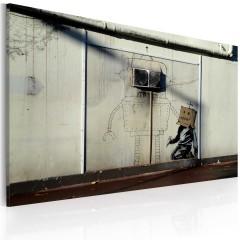 Artgeist Wandbild - Roboter (Banksy)