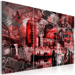 Artgeist Wandbild - Rotes London