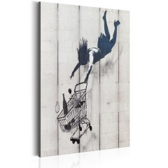 Artgeist Wandbild - Shop Til You Drop by Banksy
