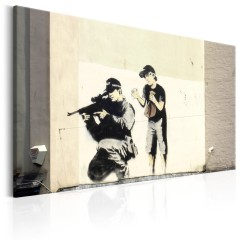 Artgeist Wandbild - Sniper and Child by Banksy