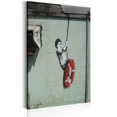 Artgeist Wandbild - Swinger, New Orleans - Banksy