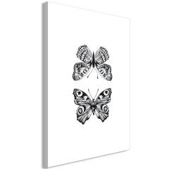 Artgeist Wandbild - Two Butterflies (1 Part) Vertical