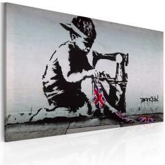 Artgeist Wandbild - Union Jack Kid (Banksy)