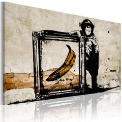 Artgeist Wandbild - Von Banksy inspiriert - Sepia