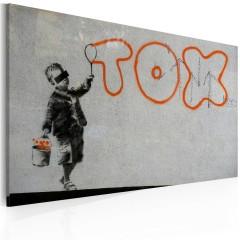 Artgeist Wandbild - Wallpaper graffiti (Banksy)