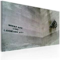 Artgeist Wandbild - Was guckst du? (Banksy)