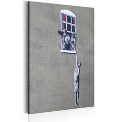 Artgeist Wandbild - Well Hung Lover by Banksy