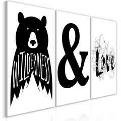 Artgeist Wandbild - Willderness and Love (Collection)