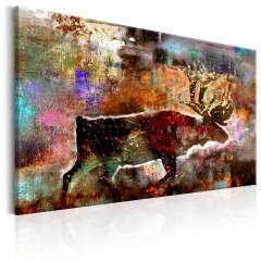 Artgeist Wandbild - Colourful Caribou