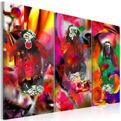 Artgeist Wandbild - Crazy Monkeys - triptych