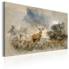 Artgeist Wandbild - Deer in Field