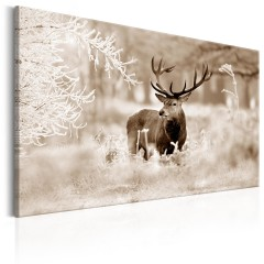 Artgeist Wandbild - Deer in Sepia
