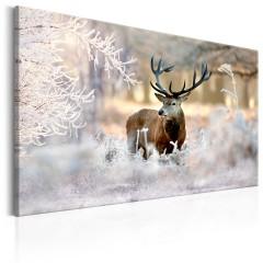 Artgeist Wandbild - Deer in the Cold