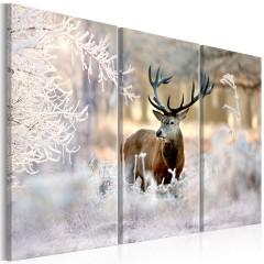 Artgeist Wandbild - Deer in the Cold I