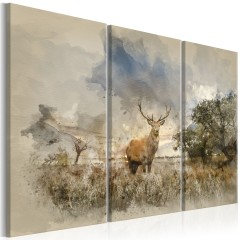 Artgeist Wandbild - Deer in the Field I