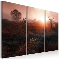 Artgeist Wandbild - Deer in the Sunshine I