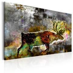 Artgeist Wandbild - Emerald Caribou