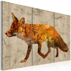 Artgeist Wandbild - Fox in The Wood