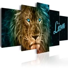 Artgeist Wandbild - Gold lion