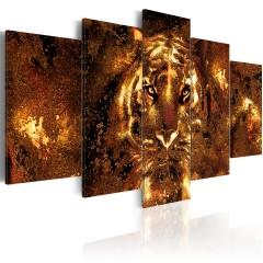 Artgeist Wandbild - Golden Tiger