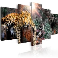 Artgeist Wandbild - Leopard Relaxation
