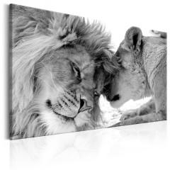 Artgeist Wandbild - Lion's Love