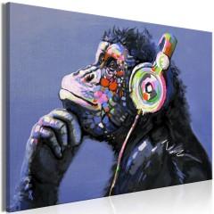 Artgeist Wandbild - Musical Monkey (1 Part) Wide
