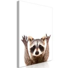 Artgeist Wandbild - Raccoon (1 Part) Vertical