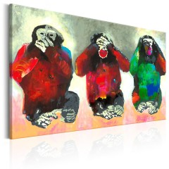 Artgeist Wandbild - Three Wise Monkeys