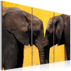 Artgeist Wandbild - Elefantenliebe