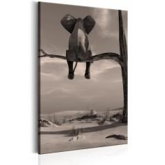 Artgeist Wandbild - Elephant in the Desert