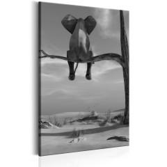 Artgeist Wandbild - Resting Elephant