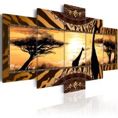 Artgeist Wandbild - African giraffes