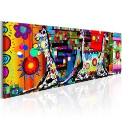 Artgeist Wandbild - Colourful Savannah