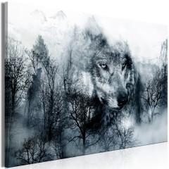 Artgeist Wandbild - Mountain Predator (1 Part) Wide Black and White