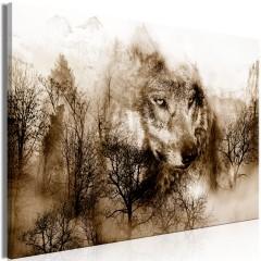 Artgeist Wandbild - Mountain Predator (1 Part) Wide Brown
