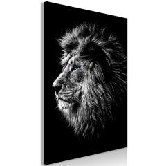 Artgeist Wandbild - Blue-eyed Lion (1 Part) Vertical