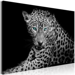 Artgeist Wandbild - Leopard Portrait (1 Part) Wide