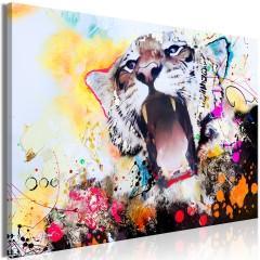 Artgeist Wandbild - Tiger's Roar (1 Part) Wide