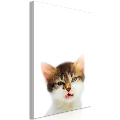 Artgeist Wandbild - Vexed Cat (1 Part) Vertical