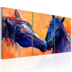 Artgeist Wandbild - Blue Horses