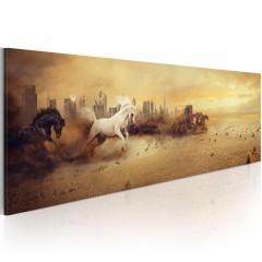 Artgeist Wandbild - City of stallions