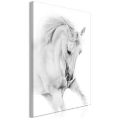 Artgeist Wandbild - White Horse (1 Part) Vertical