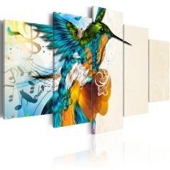 Artgeist Wandbild - Bird's music - 5 pieces