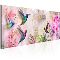 Artgeist Wandbild - Colourful Hummingbirds (1 Part) Narrow