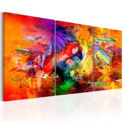 Artgeist Wandbild - Colourful Parrot