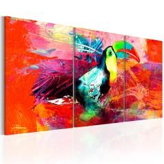 Artgeist Wandbild - Colourful Toucan
